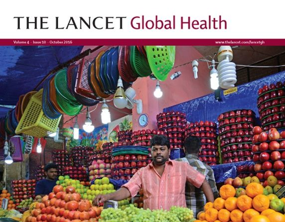 The cover of The Lancet - Global Health issue